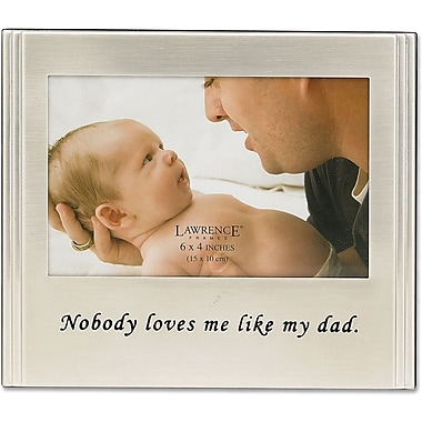 Brushed Metal 4x6 Dad Picture Frame - Sentiments Collection