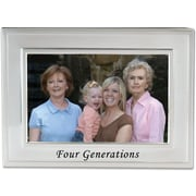 Brushed Metal 4x6 Four Generations Picture Frame - Sentiments Collection