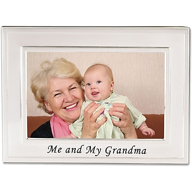 Brushed Metal 4x6 Me and My Grandma Picture Frame - Sentiments Collection
