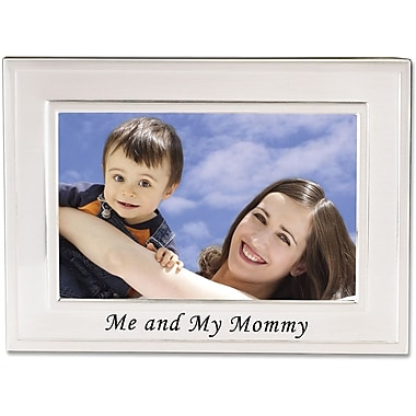 Brushed Metal 4x6 Me and My Mommy Picture Frame - Sentiments Collection