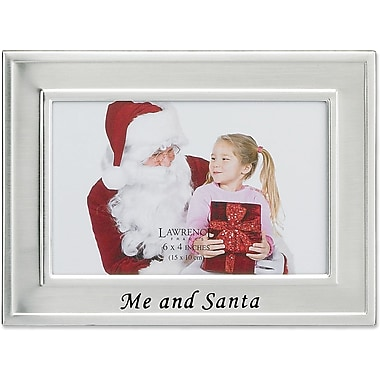 Me and Santa Silver Plated 6x4 Picture Frame