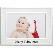 Merry Christmas Silver Plated 6x4 Picture Frame