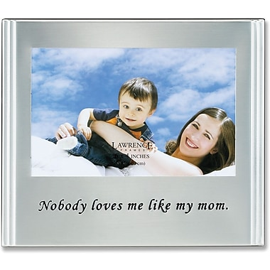 Brushed Metal 4x6 Mom Picture Frame - Sentiments Collection