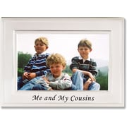Brushed Metal 4x6 Me and My Cousins Picture Frame - Sentiments Collection