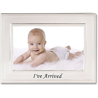 Brushed Metal 4x6 I've Arrived Picture Frame - Sentiments Collection