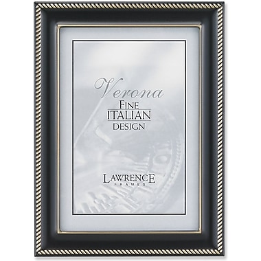 Lawrence Frames Oil Rubbed Bronze Metal Picture Frame Rope Border