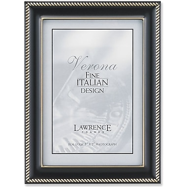 Oil Rubbed Bronze 5x7 Metal Picture Frame - Rope Border
