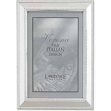 Silver Plated 4x6 Metal Picture Frame - Braid Border