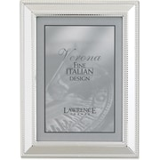 Silver Plated 5x7 Metal Picture Frame - Braid Border