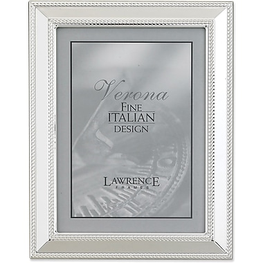 Silver Plated 8x10 Metal Picture Frame - Braid Border