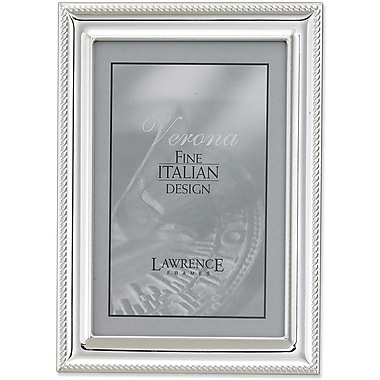 Lawrence Frames Silver Plated Metal Picture Frame - Rope Border