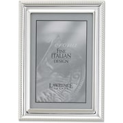Silver Plated 4x6 Metal Picture Frame - Rope Border