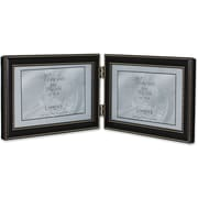 4x6 Hinged Double (Horizontal) Metal Picture Frame Oil Rubbed Bronze with Delicate Beading