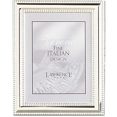 Lawrence Frames Metal Picture Frame Silver Plate with Delicate Double Beading