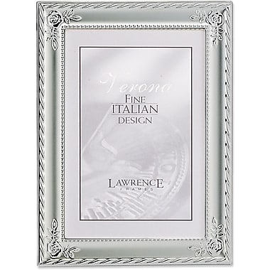 Silver Plated With Rose Corners 4x6 Picture Frame - Classic Design