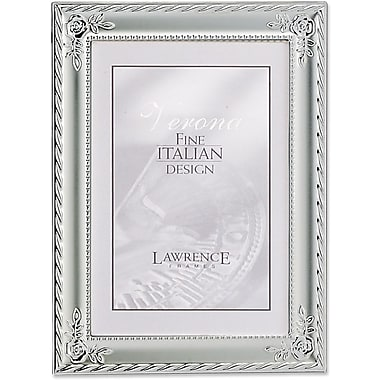 Silver Plated With Rose Corners 5x7 Picture Frame - Classic Design