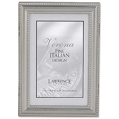 Lawrence Frames Metal Picture Frame Pewter Finish with Delicate Double Beading