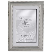 4x6 Metal Picture Frame Pewter Finish with Delicate Beading
