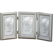 "Lawrence Frames Verona Collection 4"" x 6"" Metal Pewter Hinged Triple Picture Frame (510946T)"
