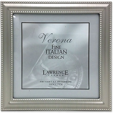 510955 Brushed Pewter Double Bead 5x5 Picture Frame