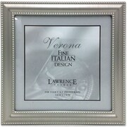 "Lawrence Frames Verona Collection 5"" x 5"" Metal Pewter Hinged Double picture Frame (510955)"