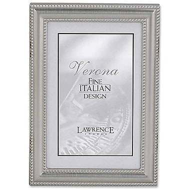 5x7 Metal Picture Frame Pewter Finish with Delicate Beading