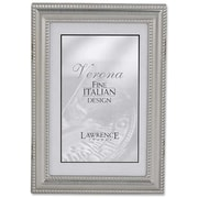 "Lawrence Frames Verona Collection 5"" x 7"" Metal Pewter Picture Frame (510957)"