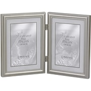 "Lawrence Frames Verona Collection 5"" x 7"" Metal Pewter Hinged Double Picture Frame (510957D)"