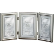 "Lawrence Frames Verona Collection 5"" x 7"" Metal Pewter Hinged Triple Picture Frame (510957T)"