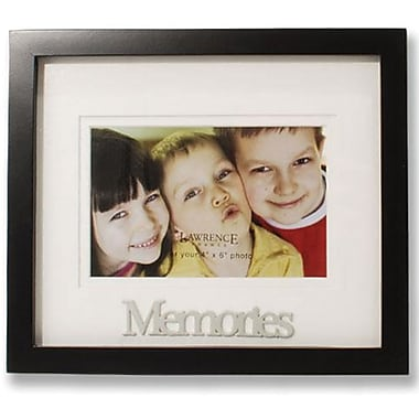 Black Wood Double Mat 6x4 Picture Frame - Memories Design