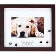 "Lawrence Frames Pets Collection ""Woof"" 4"" x 6"" Wooden Picture Frame (565564)"