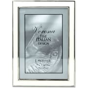 Silver Plated 5x7 Metal with White Enamel Picture Frame