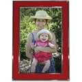 Lawrence Frames Silver Plated Metal with Red Enamel Picture Frame