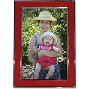 "Lawrence Frames Verona Collection 5"" x 7"" Metal Red Picture Frame (586257)"