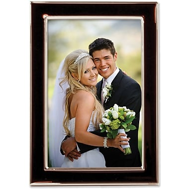 Lawrence Frames Silver Plated Metal with Brown Enamel Picture Frame