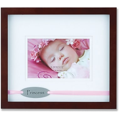Brown Princess 4x6 Picture Frame - Satin Pink Ribbon Design