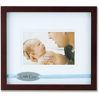 Brown 4x6 Picture Frame - Satin Blue Ribbon Little Guy Design
