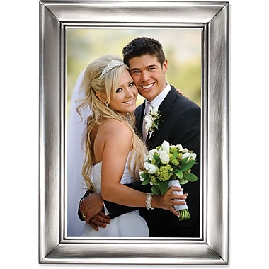 Brushed Pewter 4x6 Metal Picture Frame