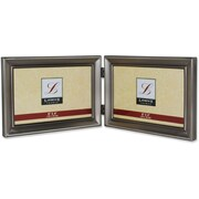 Brushed Pewter 6x4 Hinged Double Metal Picture Frame