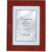 Burgundy Faux Burl 4x6 Picture Frame - Polished Lustrous Finish With Sides Finished In Black