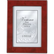 Burgundy Faux Burl 8x10 Picture Frame - Polished Lustrous Finish With Sides Finished In Black