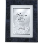 Navy Blue Faux Burl 5x7 Picture Frame - Polished Lustrous Finish With Sides Finished In Black