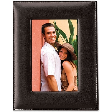 Lawrence Frames Black Leather Picture Frame