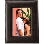 "Lawrence Frames 5"" x 7"" Faux Leather Black Picture Frame (685057)"