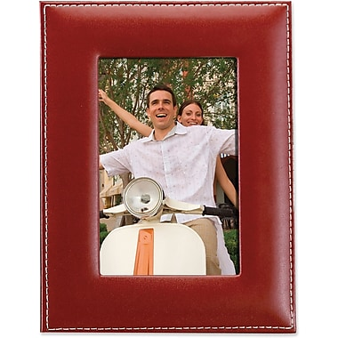 Lawrence Frames Red Leather Picture Frame