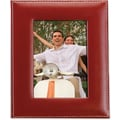 Red Leather 8x10 Picture Frame