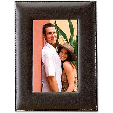 Dark Brown Leather 5x7 Picture Frame