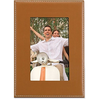 Camel Leather 4x6 Picture Frame