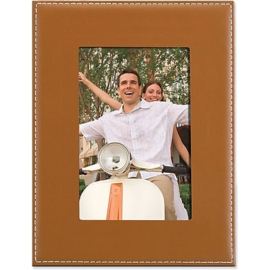 Camel Leather 5x7 Picture Frame