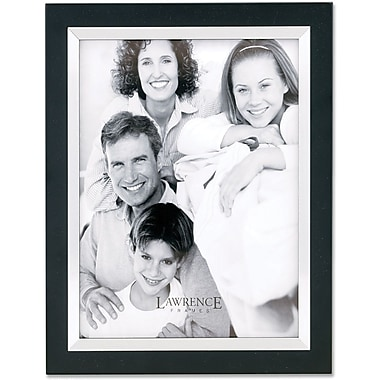 Black Wood 4x6 with Silver Metal Inner Bezel Picture Frame